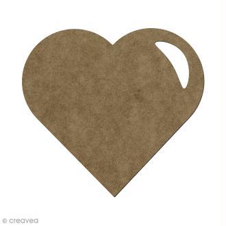 Forme en bois à décorer Coeur - 5,5 x 6 cm