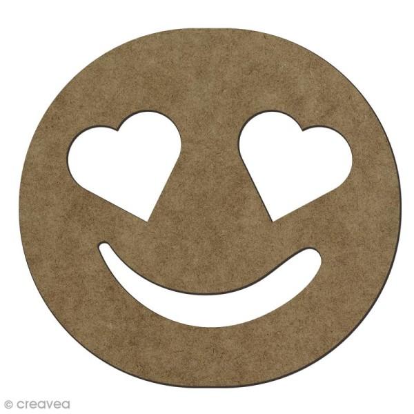 Forme En Bois A Decorer Smiley Amoureux 14 1 X 15 Cm Forme En Bois Creavea