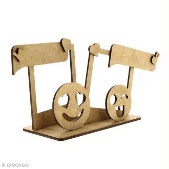 Kit cadres photos en bois à monter - Smiley émotions - 11 pcs