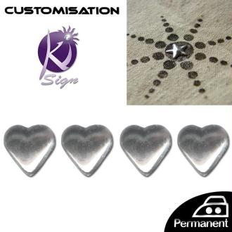Motif strass thermocollant Coeur 7 mm Crystal x 24
