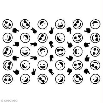 Pochoir multiusages - Smiley émotions - A5