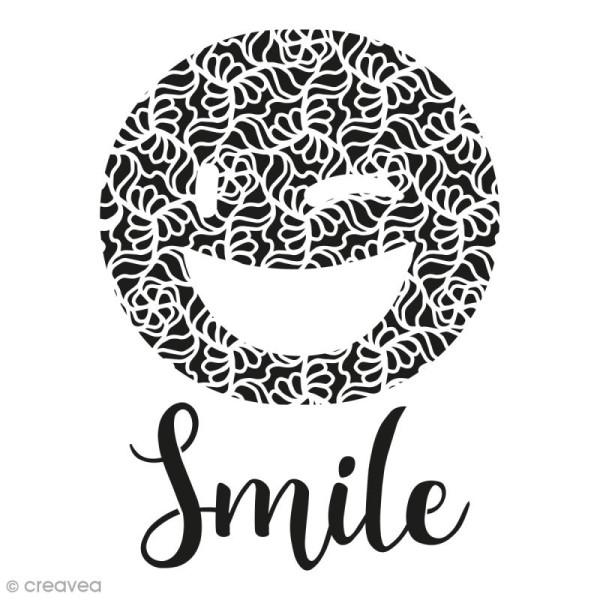 Pochoir multiusages - Emotion Smile ajouré - A4 - Photo n°1