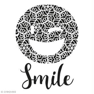 Pochoir multiusages - Emotion Smile ajouré - A4