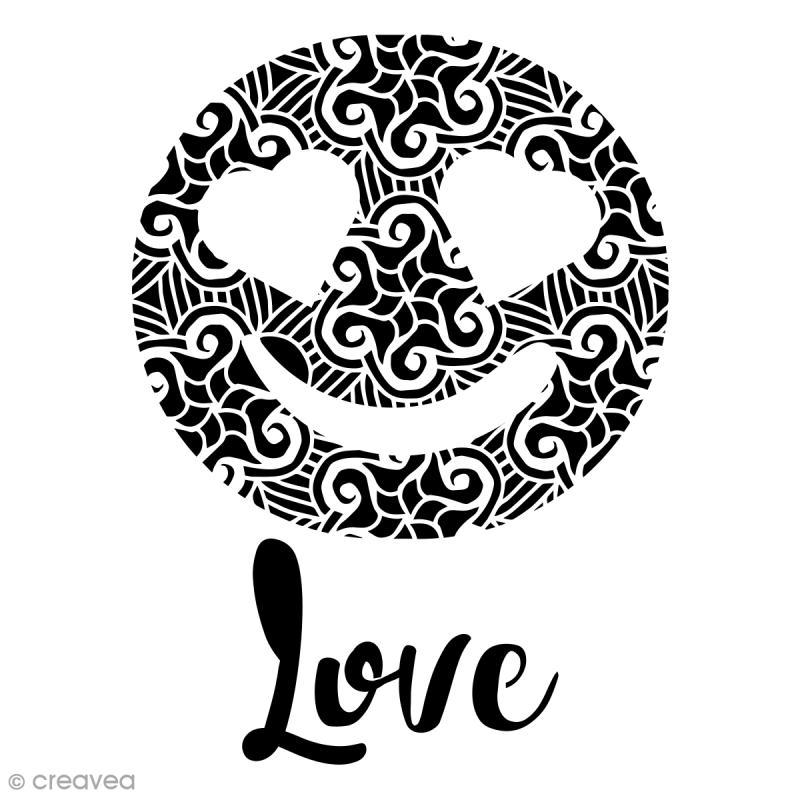 Pochoir multiusages - Emotion Love ajouré - A4 - Photo n°1