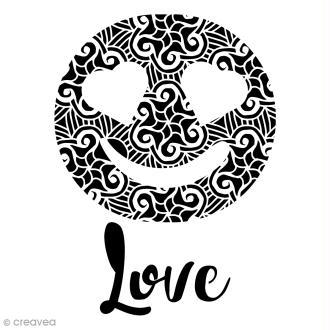 Pochoir multiusages - Emotion Love ajouré - A4
