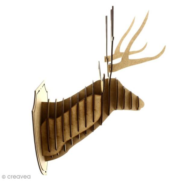 Kit trophée - Tête de cerf - 46 cm - 19 pcs - Photo n°3