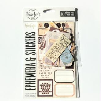 Kit stickers et die cut Vintage Prima