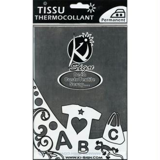 Tissu Thermocollant métal Argent 15 x 20 cm