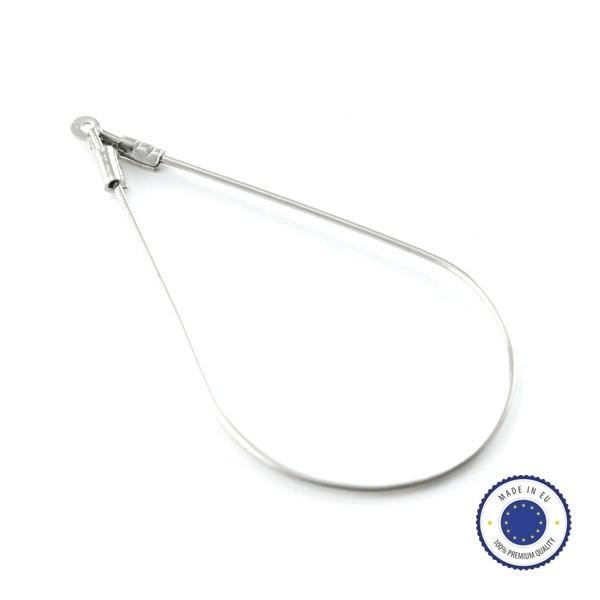 4 anneaux créoles Gouttes 43mm laiton ARGENTE - Fabriqué en Europe - Photo n°1