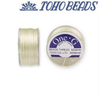 Bobine 46m fil One-G  (Toho) 0.25mm CREAM
