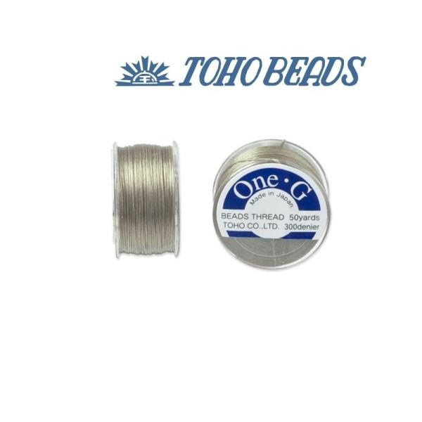 Bobine 46m fil One-G  (Toho) 0.25mm BEIGE - Photo n°1