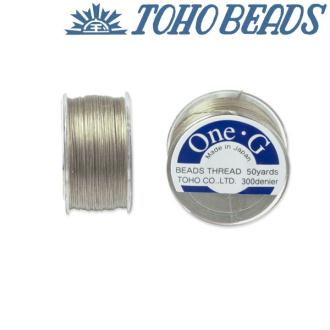 Bobine 46m fil One-G  (Toho) 0.25mm BEIGE