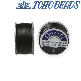 Bobine 46m fil One-G  (Toho) 0.25mm BLACK