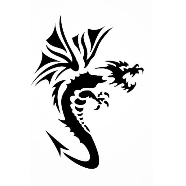 Pochoir adhésif pour customisation Dragon 7 x 10 cm - Photo n°1