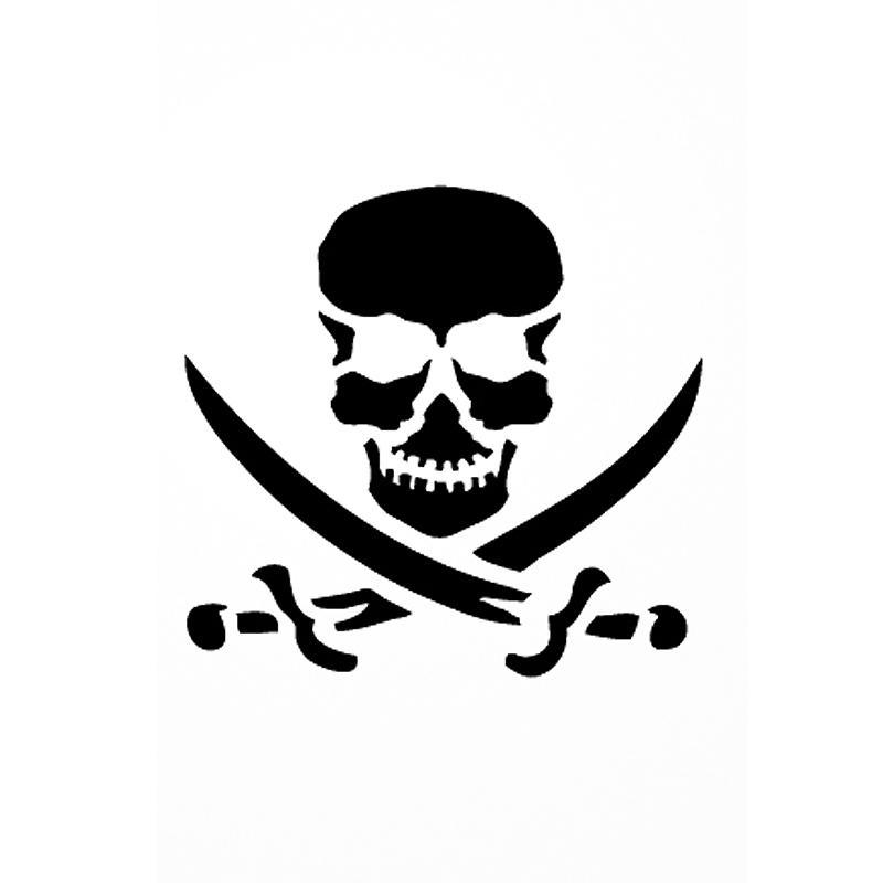 pochoir adh sif pour customisation pirate 7 x 10 cm pochoir pour tatouage creavea. Black Bedroom Furniture Sets. Home Design Ideas