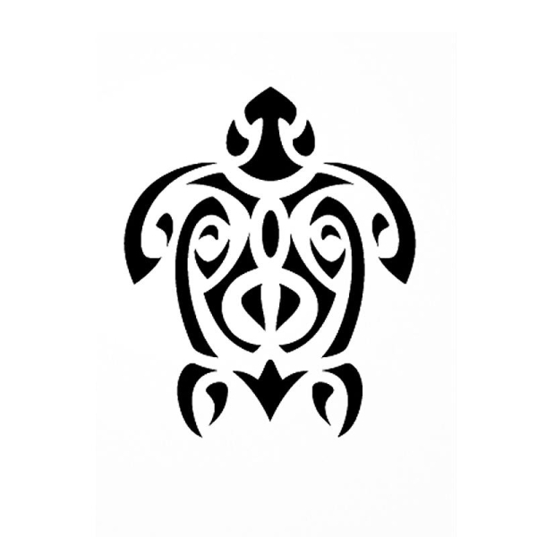 Pochoir adhésif pour customisation Tortue Maori 7 x 10 cm