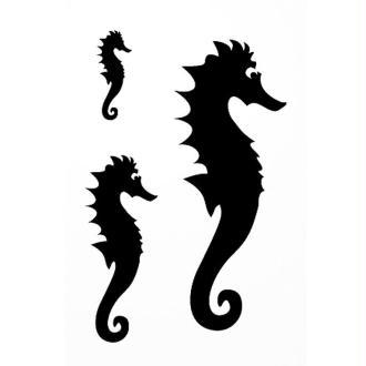 Pochoir adhésif pour customisation Hippocampe 7 x 10 cm