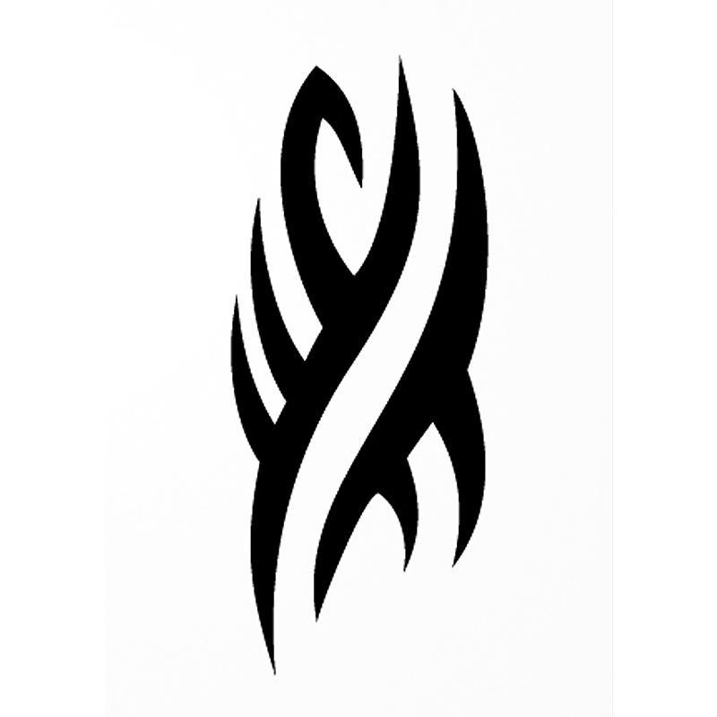 Pochoir adh sif pour customisation tribal vague 7 x 10 cm pochoir pour tatouage creavea - Dessin tribal simple ...