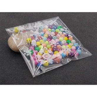 100 Sachets Plastiques Autocollantes Flocons