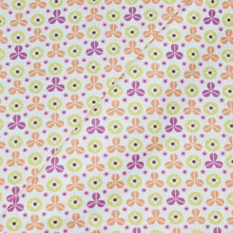 Tissu popeline coton imprimé trèfles - tissu 100% coton (x20cm) - monpatroncouture