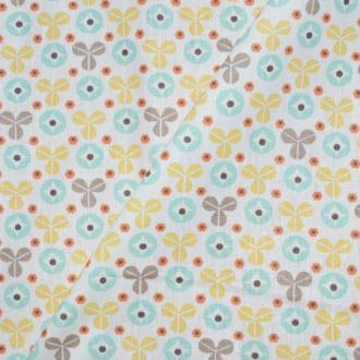 Tissu popeline coton imprimé trèfles b - tissu 100% coton (x20cm) - monpatroncouture