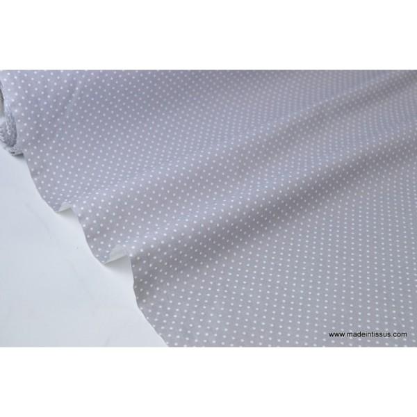 Tissu Popeline coton imprimé petit pois - Photo n°2