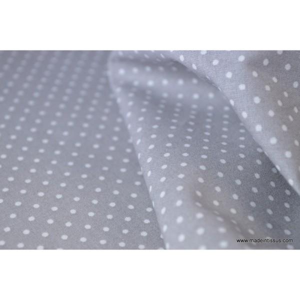 Tissu Popeline coton imprimé petit pois - Photo n°3