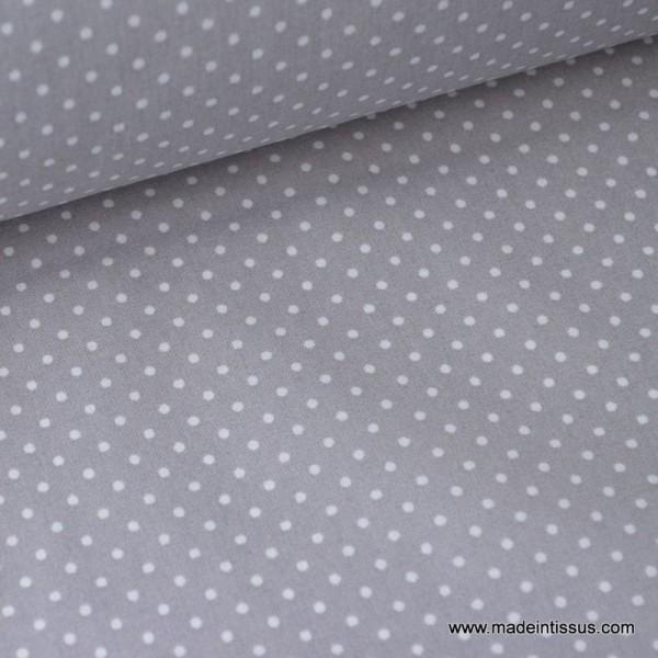 Tissu Popeline coton imprimé petit pois - Photo n°1