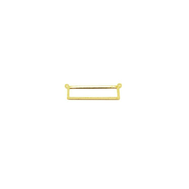 Connecteur rectangle dor en laiton brut 25 x 8 mm for Accessoire cuisine en ligne