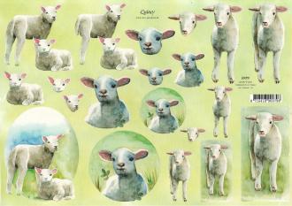 Feuille 3D à découper A4 Mouton