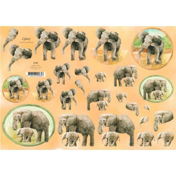 Feuille 3D à découper A4 éléphant - Photo n°1