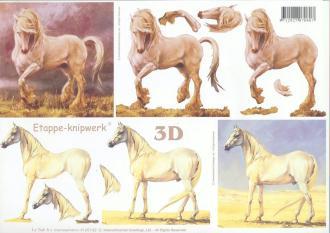 Feuille 3D à découper A4 Cheval
