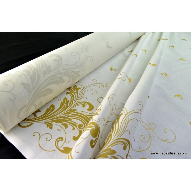 tissu pour d coration nappes de noel x 1m tissu fantaisie creavea. Black Bedroom Furniture Sets. Home Design Ideas