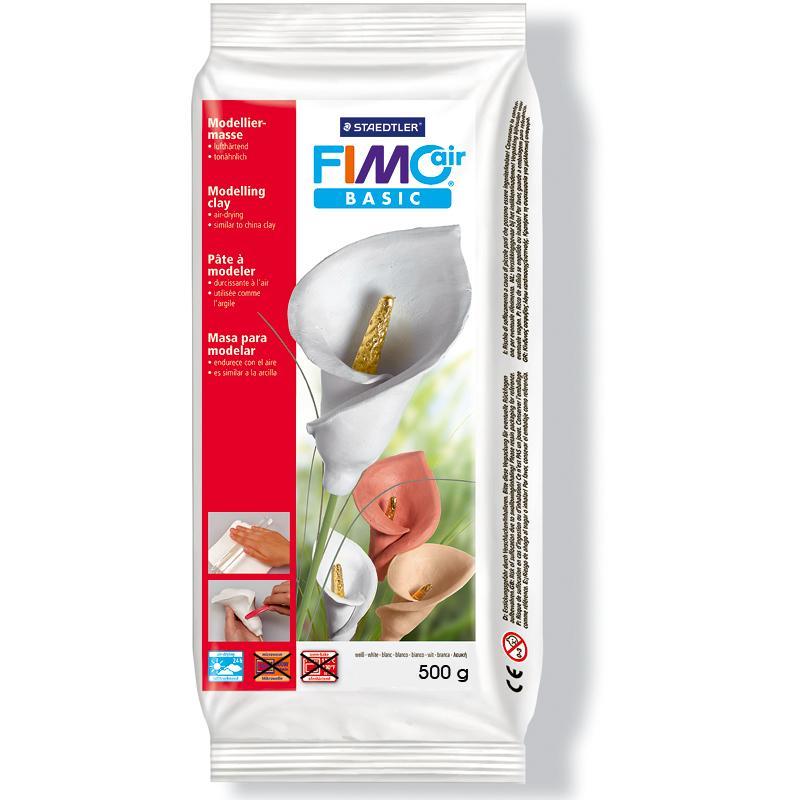 Pâte Fimo Air Basic Blanc 500 gr - Photo n°1