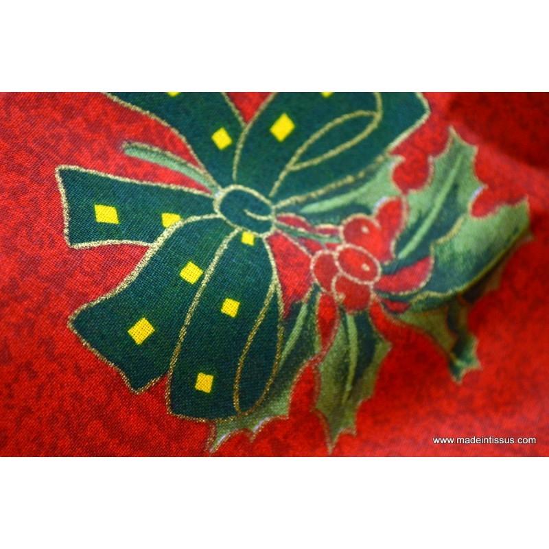 Tissu pour d coration nappes de noel x 1m tissu - Decoration de table pour noel ...
