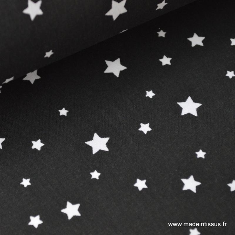 popeline coton dessin toiles multiples noir x1m tissu toile creavea. Black Bedroom Furniture Sets. Home Design Ideas