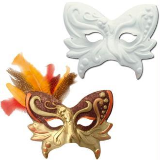 Masque Loup papillon avec nez