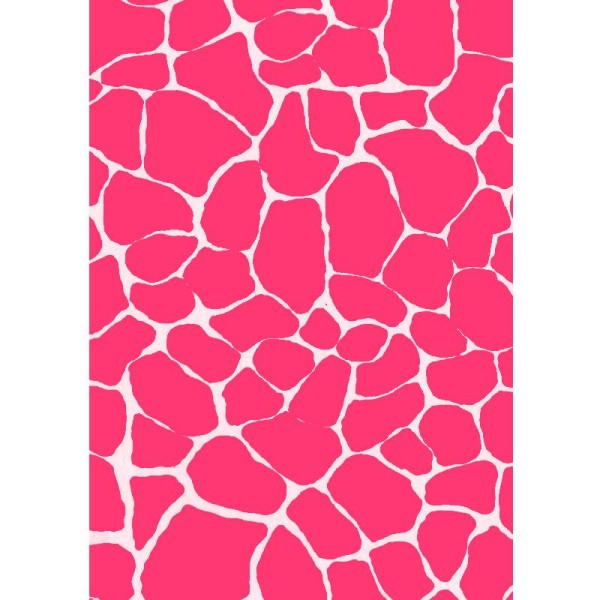 Décopatch Rose fluo 526 - 1 feuille - Photo n°1