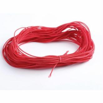 Nylon élastique rouge 1 milimètre par 7 mètres - cordon rouge