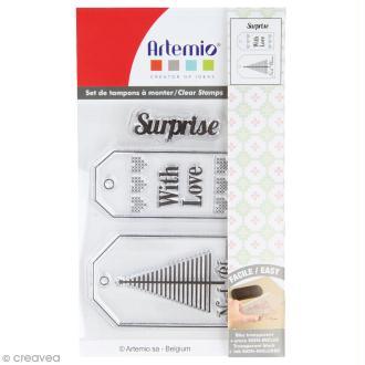 Tampon clear Artemio - Etiquettes de Noël - 3 pcs