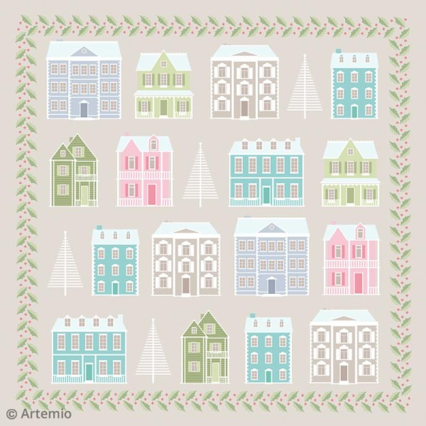 Papier Scrapbooking Artemio - Noël Home sweet Home - 30,5 x 30,5 cm - 40 feuilles - Photo n°2
