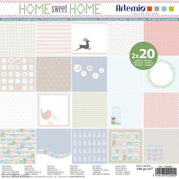 Papier Scrapbooking Artemio - Noël Home sweet Home - 30,5 x 30,5 cm - 40 feuilles - Photo n°1