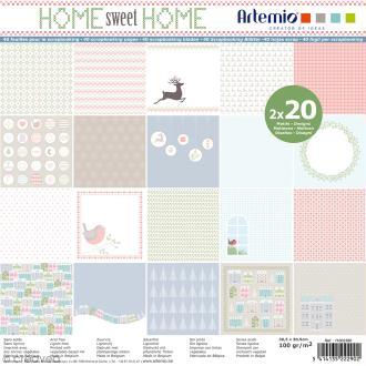 Papier Scrapbooking Artemio - Noël Home sweet Home - 30,5 x 30,5 cm - 40 feuilles