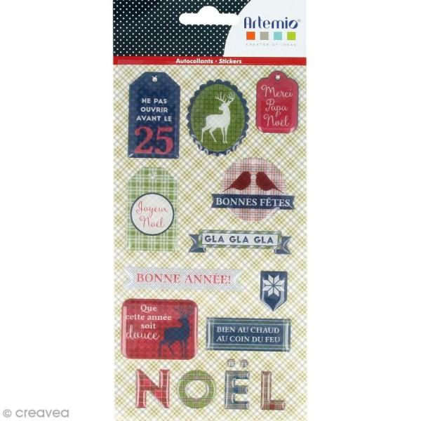 Stickers Epoxy - Noël Ecossais - 28 pcs - Photo n°1