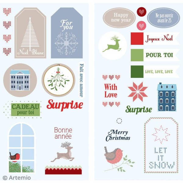 Stickers Puffies XL - Noël Home sweet Home - 27 autocollants - Photo n°2
