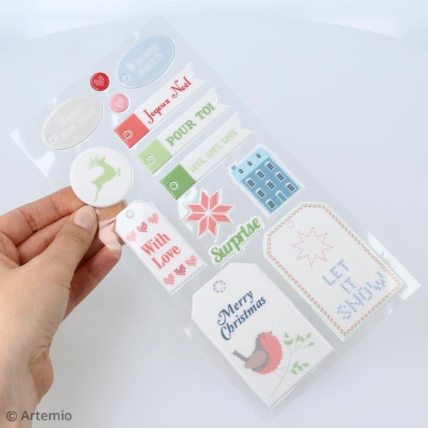Stickers Puffies XL - Noël Home sweet Home - 27 autocollants - Photo n°4