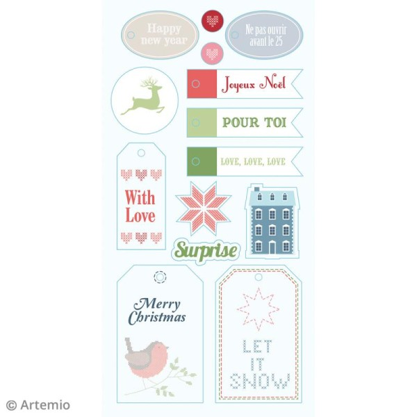 Stickers Puffies XL - Noël Home sweet Home - 27 autocollants - Photo n°5