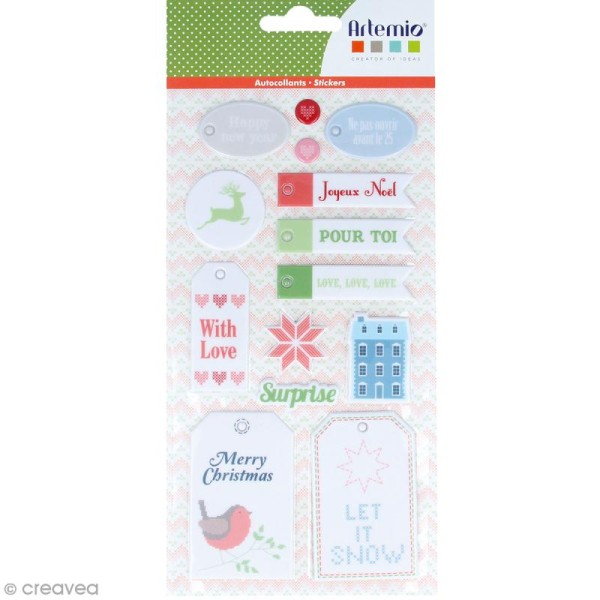 Stickers Puffies XL - Noël Home sweet Home - 27 autocollants - Photo n°1