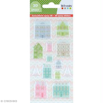 Stickers Epoxy - Noël Home sweet Home - 13 pcs