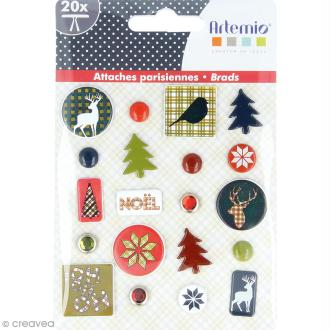 Attaches parisiennes Artemio - Noël Ecossais - 20 pcs